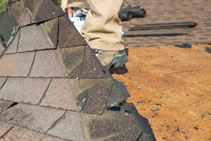Repairing rotted roof deck